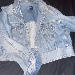 Denim Washed GAP Cropped Jean Jacket
